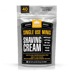 Single-dose shaving cream pods