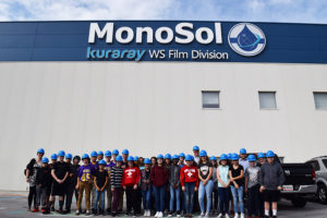 Hobart Middle School Students, MonoSol, Manufacturing Day 2017